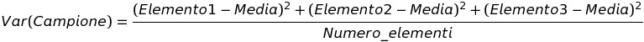 formula della varianza